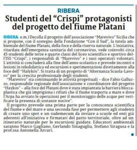 14-12-2020 La Sicilia (Agrigento)