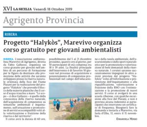 La Sicilia 18 Ottobre 2019