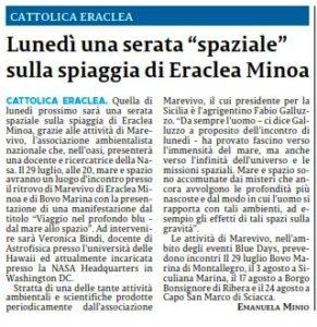 La Sicilia 25 Luglio 2019