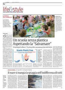 La Sicilia 26.1.2019 Marevivo no plastica a scuola-001